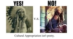 Cultural appropriation isn't pretty, but mocking your own culture engaging in cultural appropriation is a beautiful thing.