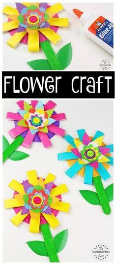 Paper Cup flower craft for kids to make #spring #flowers #craft #kidscraft #preschool #craftsforkids #papercraft