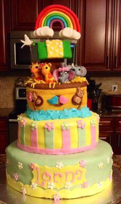 Noah's Ark Baby shower Cake I made.