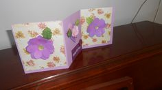 Happy Birthday card,accordian folded card,paper flower card by jmb paper designs, $6.00 USD