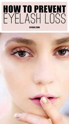 The best tips to preventing eyelash loss. ~ Article: ~ (I cut my eyelashes when I was They never grew back. When I wore mascara they used to hit the middle of my eyebrow. I still have eyelashes, but not like I did). All Things Beauty, Beauty Make Up, Beauty Care, Diy Beauty, Beauty Skin, Beauty Hacks, Health And Beauty, Makeup Tips, Eye Makeup