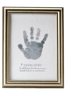 The Grandparent Gift Co. Growing in Faith Handprint Frame, Baby Dedication $17.99