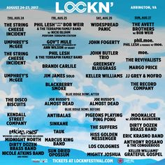 The LOCKN Music Festival will take place this upcoming August 24-27 in Arrington, Virginia with special performances by moe., Phil Lesh, Bob Weir, and The Avett Brothers.