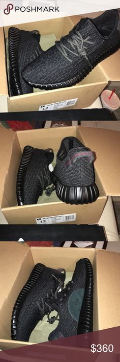 Adidas Yeezy Boost 350 Pirate Black Authentic! Own the yeezy boost moon rocks, so not interested in this pair. Brand New,just got these in and looking to sell them! Adidas Shoes Sneakers