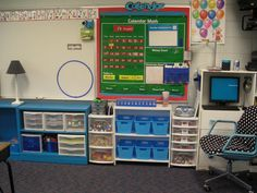 great classroom organization- love the chair~