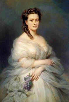 1862 Duchesse Anne de Mouchy (1841-1924), née Princesse Murat by Franz Xaver Winterhalter (private collection) | Grand Ladies | gogm