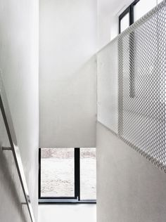 Perforated metal and staircase