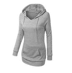 #MOSAN #Damen #Baumwolle #Hoodies #Langarm #Pullover #Kapuzen #elastisch #Top…