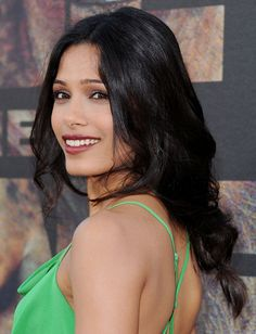 Freida Pinto's tousled braid is oh-so-trendy this fall and super easy to do.