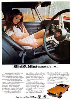 MG Midget voiture Print 1970 publicité Wall Art par RetroAdverts Vintage Advertisements, Vintage Ads, Jaguar, Mg Midget, British Sports Cars, British Car, Mg Cars, Car Posters, Car Advertising