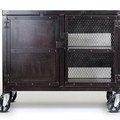Small Industrial Media Wine Cabinet, Tv Stand, Liquor Cart custom made by Real Industrial Edge Furniture llc