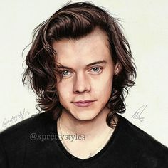 I uploaded the full video of this drawing on my youtube channel go check it i'll post the link in my bio ♡ please tag @harrystyles