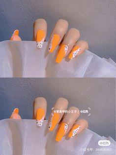 Nail Swag, Orange Nails, Long Acrylic Nails, Nail Art, Deco, Orange Nail, Nail Arts, Decor, Deko
