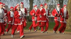 Santa Run Battersea Park, 6 Dec 2015..