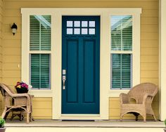 Olympic Blue Bayberry OL707.6  I am painting my front door this color! There is the tiniest hint of green... It is like a very blue peacock color! I think I will love it!