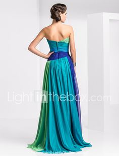 TS Couture Prom Formal Evening Military Ball Dress - Color Gradient A-line Strapless Sweetheart Floor-length Chiffon withCrystal 490604 2017 – £100.79