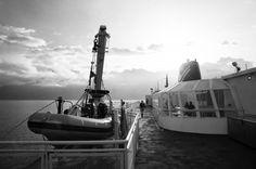 Starboard Zodiac & Morning Misty Mountains