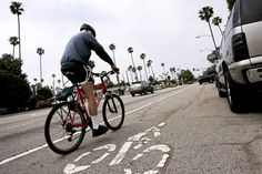 The city that put drive-thru restaurants on the map has doubled its network of bike lanes to 292 miles (470 kilometers) and expanded light rail by 26 percent in the past eight years, with another 18 miles of track coming by 2015. Bus and train ridership is on the rise, while the total number of passenger cars registered has declined in Los Angeles County -- evidence more commuters are breaking their dependence.