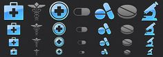 Medical App Tab Bar Icons for iPhone