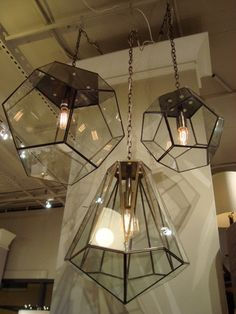 DESIGN ON SALE DAILY  A MULTIFACETED PENDANT LIGHT   Lamps     Edmond Glass Hexagon Pendant Light   Tonic Home
