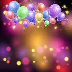 Birthday Photo Frame, Happy Birthday Frame, Happy Birthday Photos, Birthday Frames, Birthday Background Design, Party Background, Birthday Design, Balloon Lights, Balloons