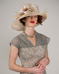 Virginia, burgundy/ballet peach, parisisal crown & sinamay brim hat with giant silk cabbage rose & horsehair edge