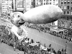 Vintage 1937, Pinocchio, Macy's Thanksgiving Day Parade, NYC, www.RevWill.com