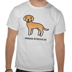 Yellow Labrador Retriever Dad T Shirts #labradorretriever #lab #dog