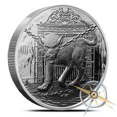 Nordic Creatures Series Nidhoggr The Dragon 5 oz Silver Antiqued Round W//COA