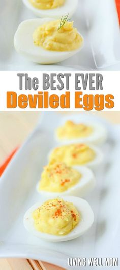 This is truly the best EVER Deviled Eggs recipe. Whenever I make this family-favorite, people ask for the recipe and rave about how delicious it is. With a few simple ingredients, it's super easy to m (Low Ingredients Eggs) Best Deviled Egg Recipe Ever, Devilled Eggs Recipe Best, Bacon Deviled Eggs, Deviled Eggs Recipe, Deviled Egg Recipe Miracle Whip, Scrambled Eggs, Miracle Whip Recipes, Deviled Egg Potato Salad, Side Dishes