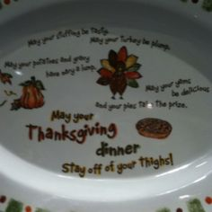 Thanksgiving platter poem