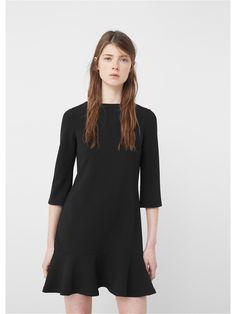 Платье - VOL Mango. Цвет черный.