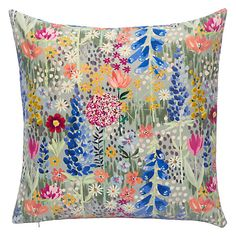 Buy John Lewis Flora Velvet Cushion Online at johnlewis.com
