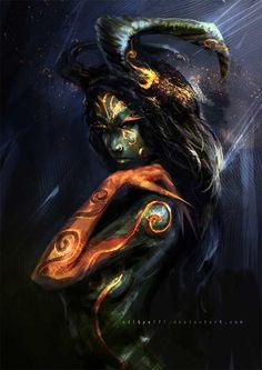 """scifi-fantasy-horror: """" Demon Queen - 01 by """" Dark Fantasy Art, Fantasy Kunst, Fantasy Artwork, Dark Art, Creative Illustration, Illustration Art, Character Inspiration, Character Art, Daily Inspiration"""