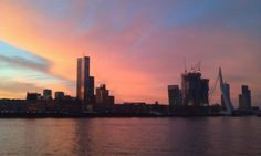 Sunrise in Rotterdam Seattle Skyline, New York Skyline, Rotterdam, Sunrise, Memories, Travel, Memoirs, Souvenirs, Viajes
