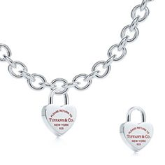 Tiffany  Co Heart Lock Pendant