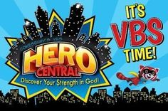 VBS 2017 Hero Central: Discover Your Strength in God! - Invitation Postcards (Pkg of 25)