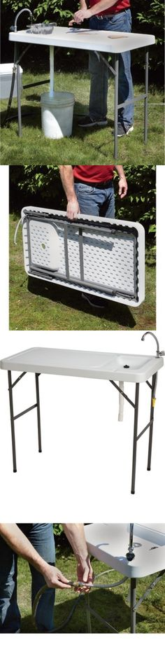 Fillet Tables and Cutting Boards 161823: Folding Portable Sink Table ...