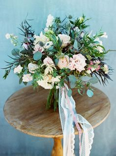 folksy floral bouquet    Inspiration shoot from Green Wedding Shoes with our Love Marley Penelope gown