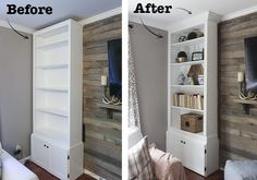 How to Make Prefab Bookcases Look Like Built-Ins | eHow