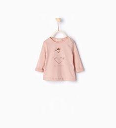 ZARA - NOUVEAUTÉS - T-shirt visage cœur