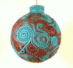 Poly clay?  Really??  This is totally awesome!!  I'd love something like this for our tree!