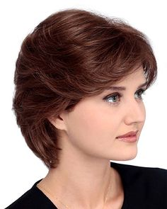 Meg Petite by Louis Ferre - Short Hair Styles Short Hair With Layers, Short Hair Cuts For Women, Layered Hair, Short Hairstyles For Women, Short Haircuts, Front Hair Styles, Medium Hair Styles, Really Short Hair, Short Hair Wigs