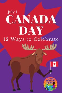 Canada Day, celebrated every July is a day for Canadians everywhere to show pride in their country's history and culture. Discover more about Canada, their national day traditions, and 12 ways to celebrate. Geography Of Canada, Geography For Kids, World Geography, Canada For Kids, Canada Day, Around The World In 80 Days, Holidays Around The World, Summer Activities For Kids, Fun Activities