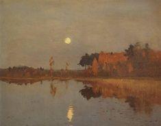 Isaac Levitan - Twilight. Moon., 1899