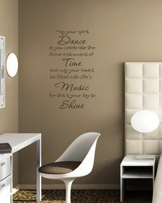 Dance Time Music Shine Spirit Vinyl Wall Lettering Art Words Quotes Decals Willow Creek Signs