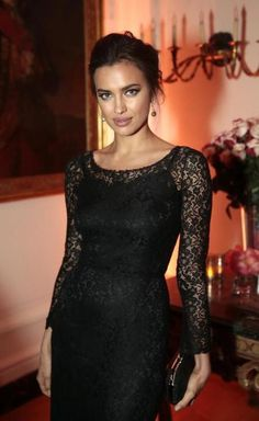 black lace dress with black underlay (not nude)