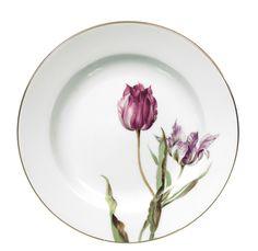 Plate, Flower painting 'tulips', coloured, lim., num., gold rim, ø 19 cm