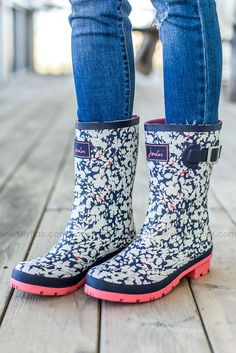 http://rubies.work/0970-sapphire-pin-brooch/ Joules Mid Mardty Floral Rain Boot