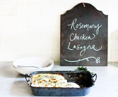 Feasting at Home: Rosemary Chicken Lasagna   I'm going to try subbing leftover turkey in this recipe :)